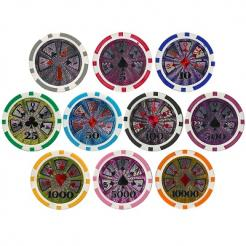 800 Bulk Royal Flush poker chips