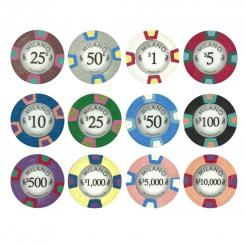 1000 Bulk Milano Poker Chips