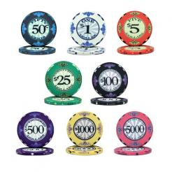 800 bulk scroll poker chips