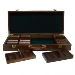 500 poker knights poker chip set in a walnut case