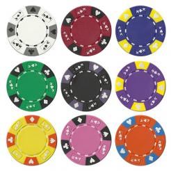 900 Bulk Ace King Suited Poker Chips includes 9 chip trays