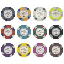 Bulk Monaco Club poker chips in quantities of 5000 chips or more