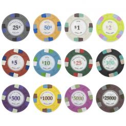Bulk Poker Knights poker chips in quantities of 5000 chips or more