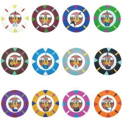 Bulk Rock & Roll Casino poker chips in quantities of 5000 chips or more