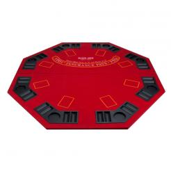 48 Red 2 in 1 Poker Table Top