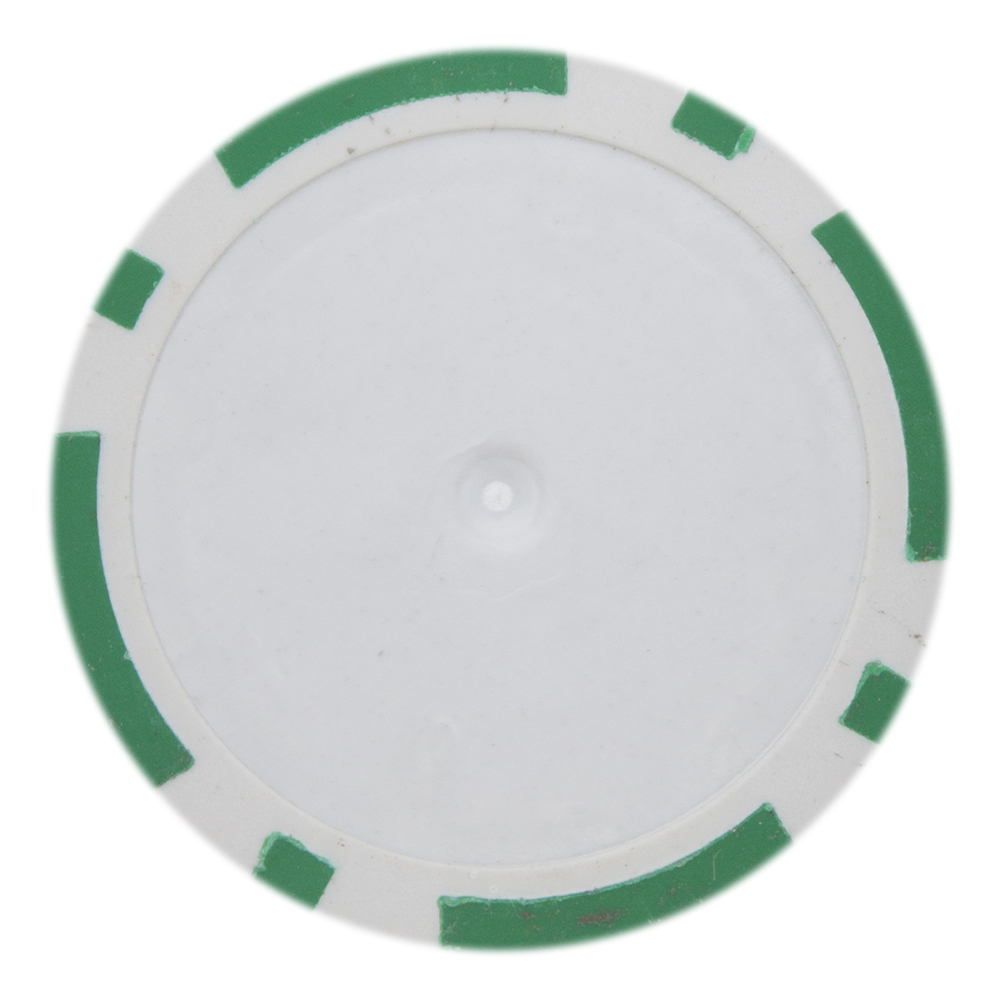 25 Green Blank 8 Stripe Poker Chips Cpbl14 Green 25