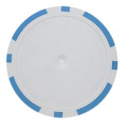 25 Light Blue blank 8 stripe poker chips