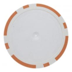 25 Orange blank 8 stripe poker chips