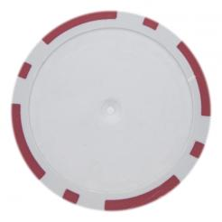 25 Red blank 8 stripe poker chips