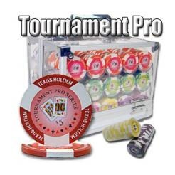 600 Tournament Pro Poker Set in an Acrylic Chip Carrier with 10 Chip Trays
