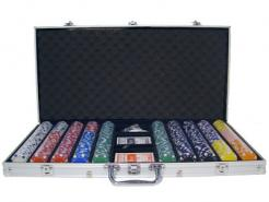 750 Striped Dice Poker Chip Set
