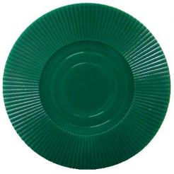 Bundle of 25 green interlocking poker chips