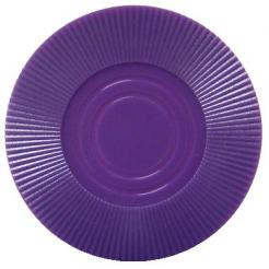 Bundle of 25 purple interlocking poker chips