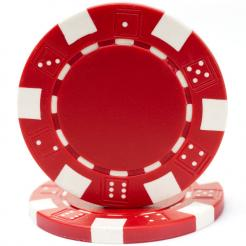 bundle of 25 red striped dice poker chips