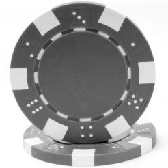 bundle of 25 gray striped dice poker chips