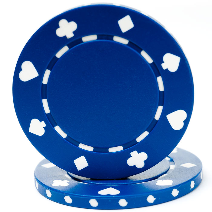 25 Blue Suited Poker Chips
