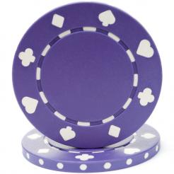 bundle of 25 purple suited poker chips
