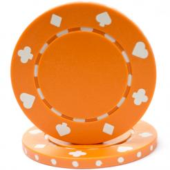 bundle of 25 orange suited poker chips
