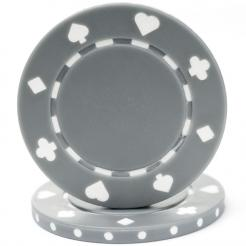 bundle of 25 gray suited poker chips