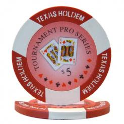 bundle of 25 red tournament pro poker chips