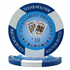 bundle of 25 blue tournament pro poker chips