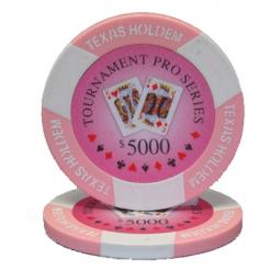 bundle of 25 pink tournament pro poker chips