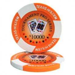 bundle of 25 orange tournament pro poker chips