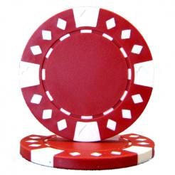 bundle of 25 red diamond suited poker chips