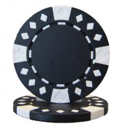 bundle of 25 black diamond suited poker chips