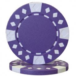 bundle of 25 purple diamond suited poker chips