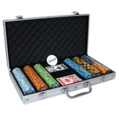 300 monte carlo poker chip set in an aluminum case