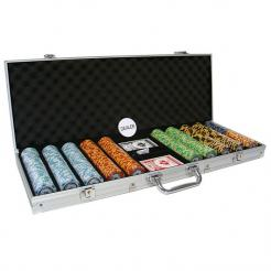 500 monte carlo poker chip set in an aluminum case