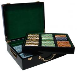 500 monte carlo poker chip set in a humidor style case