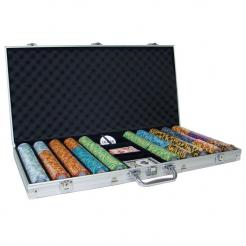750 monte carlo poker chip set in an aluminum case