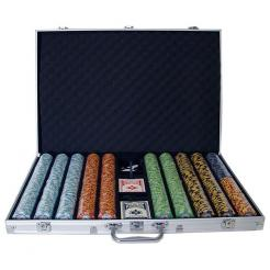 1000 monte carlo poker chip set in an aluminum case