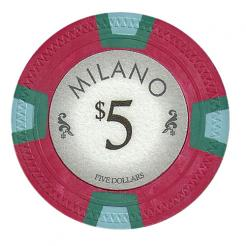 bundle of 25 red milano poker chips