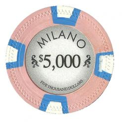 bundle of 25 pink milano poker chips
