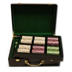 500 milano poker chip set in a humidor style case