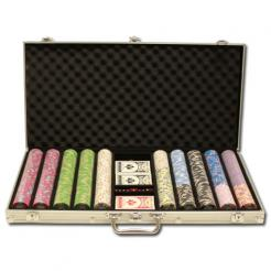 750 milano poker chip set in an aluminum case