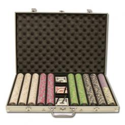 1000 milano poker chip set in an aluminum case