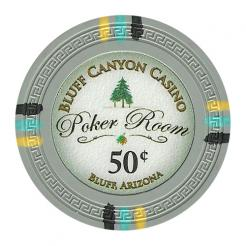 bundle of 25 gray bluff canyon poker chips