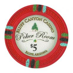 bundle of 25 red bluff canyon poker chips