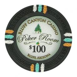 bundle of 25 black bluff canyon poker chips