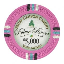 bundle of 25 pink bluff canyon poker chips