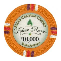 bundle of 25 orange bluff canyon poker chips