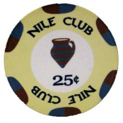 Bundle of 25 light yellow nile club 25 cent poker chips