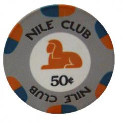 Bundle of 25 gray nile club poker chips