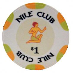 Bundle of 25 white nile club poker chips