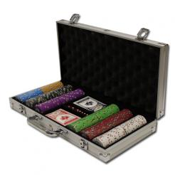 300 bluff canyon poker chip set in an aluminum case