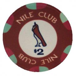 Bundle of 25 burgundy nile club poker chips